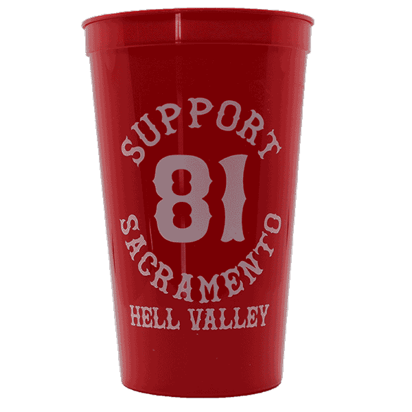 support 81 sacramento hell valley, red plastic cup